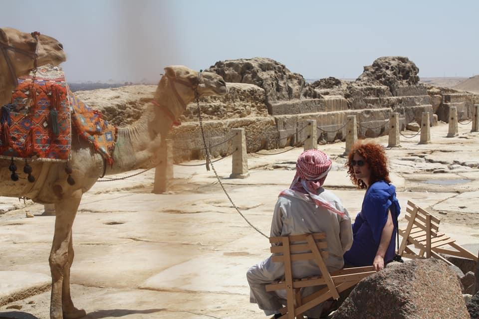 Dwarszitter in Egypte